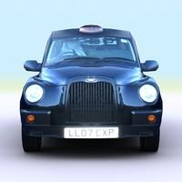 2007 london taxi cab 3d model