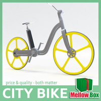 3d electric city bike model