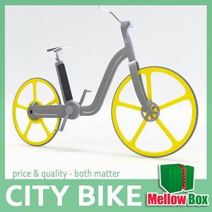 3d electric city bike model