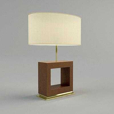 table lamp - materials 3d model