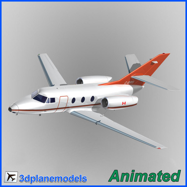 3d dassault falcon 10 skycharter model