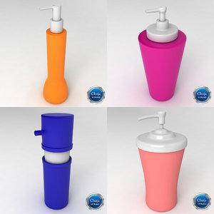3d model of cream dispensers creme