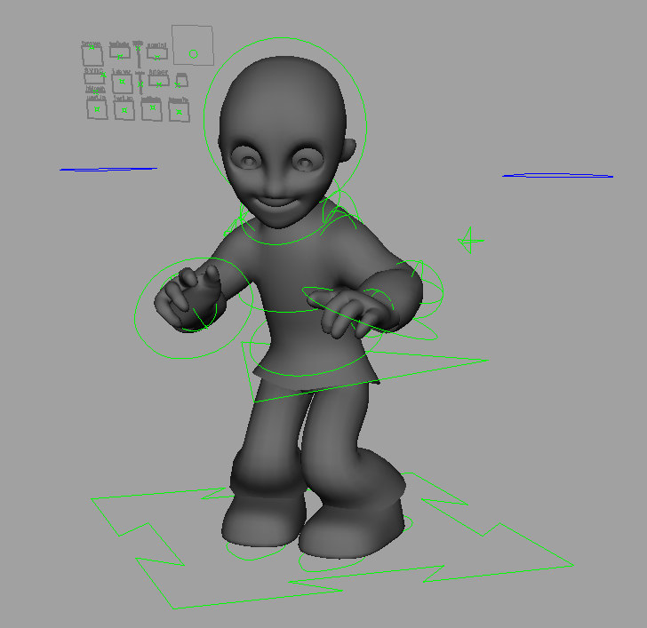 3d model character animate student