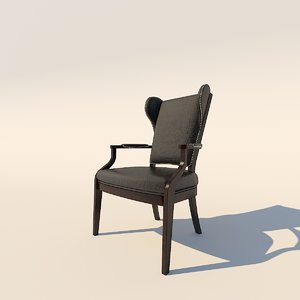 3d model century furniture 3441a chair