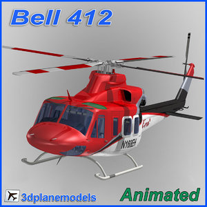 3ds max bell 412 helicopter animation