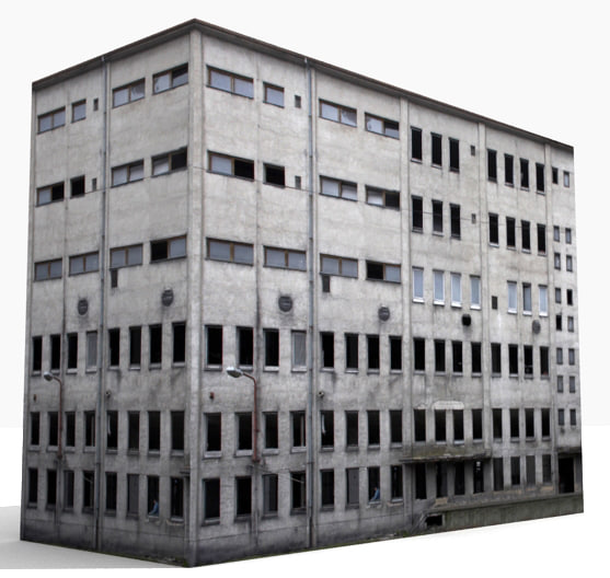 3d building industrial model