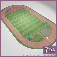 athletic field 3d max