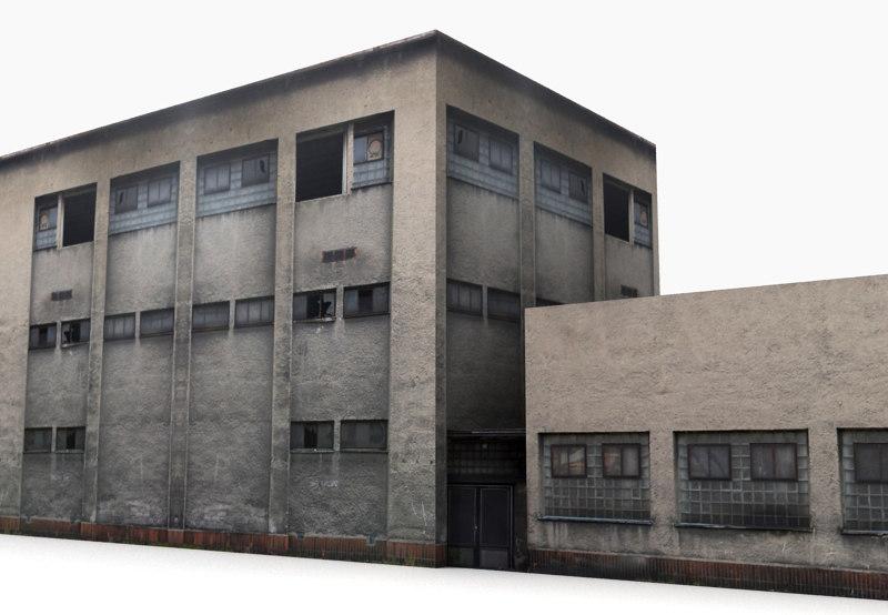 building industrial 3d max