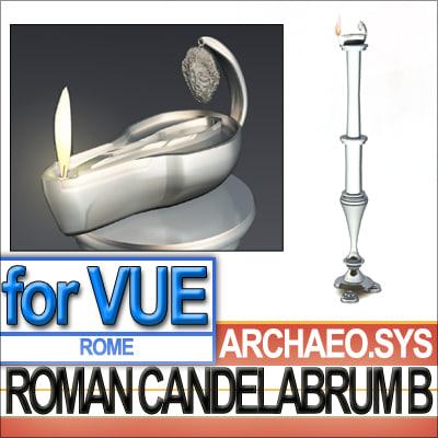 ancient roman candelabrum oil lamp 3d 3ds