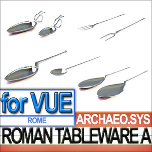 3ds ancient roman tableware table