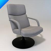 f154 156 chair artifort 3d 3ds