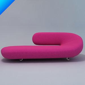 harcourt cleopatra lounge sofa 3d 3ds
