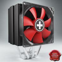 cpu cooler xilence r2 3d model