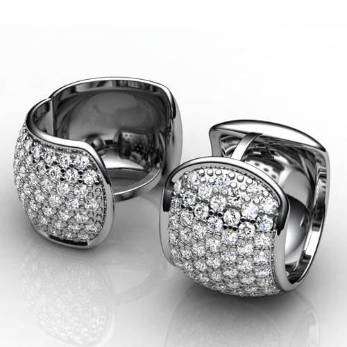 3d model earrings diamond