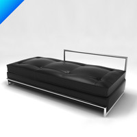 day bed eileen gray 3d 3ds