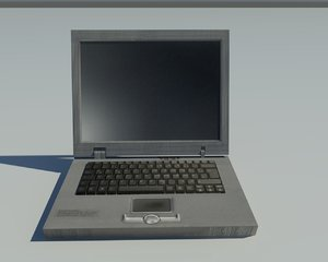 free old notebook 3d model