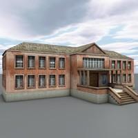 building medieval house 3d c4d