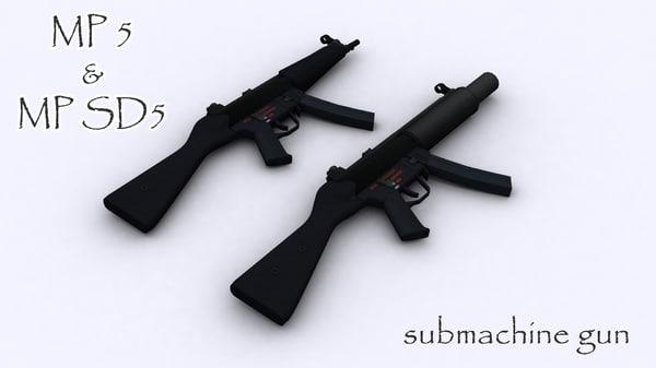 mp sd5 mp5 3d model