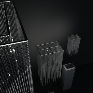 3d modern crystal lighting set