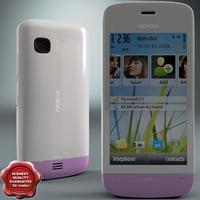 Nokia C5-03 white-pink