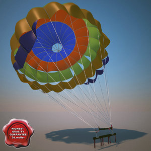 parachute modelled drop 3d 3ds