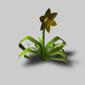 daffodil flower dxf