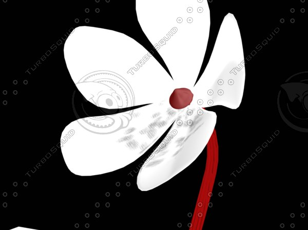 3d abstract vector flower model