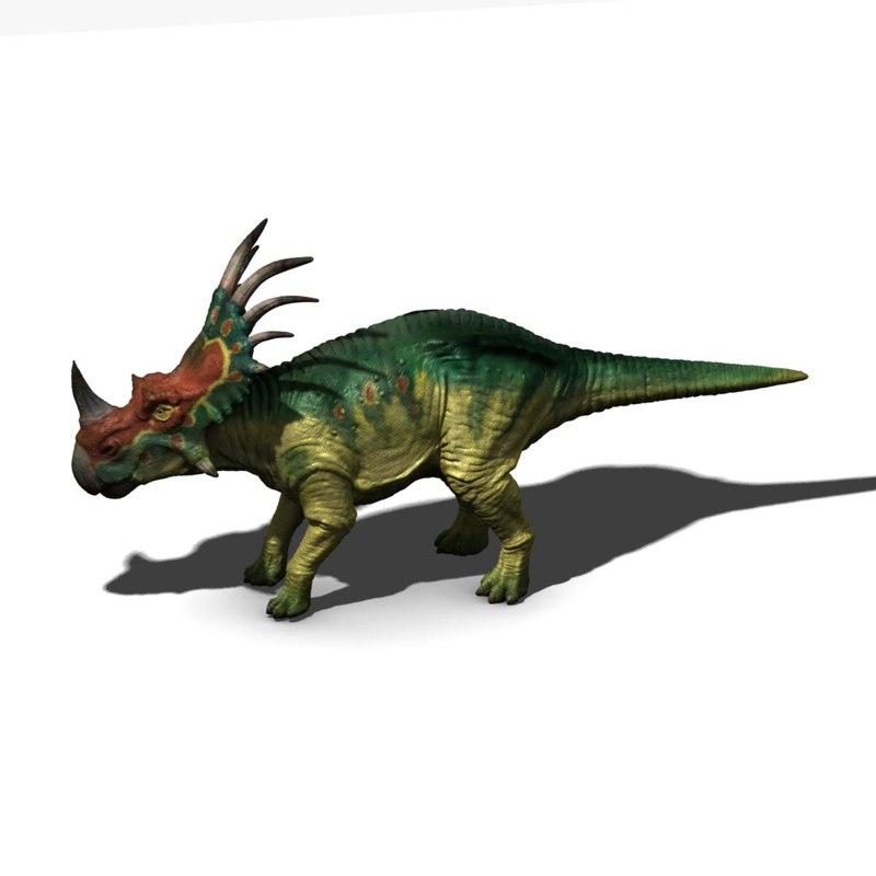 styracosaurus styracosaur 3d model