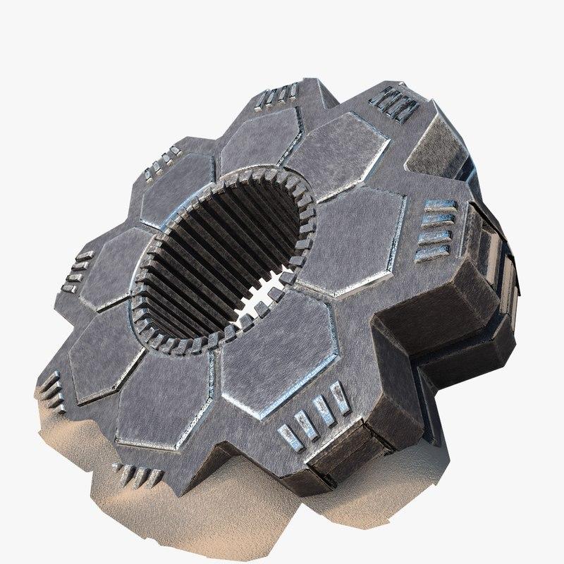 3d model ufo structure