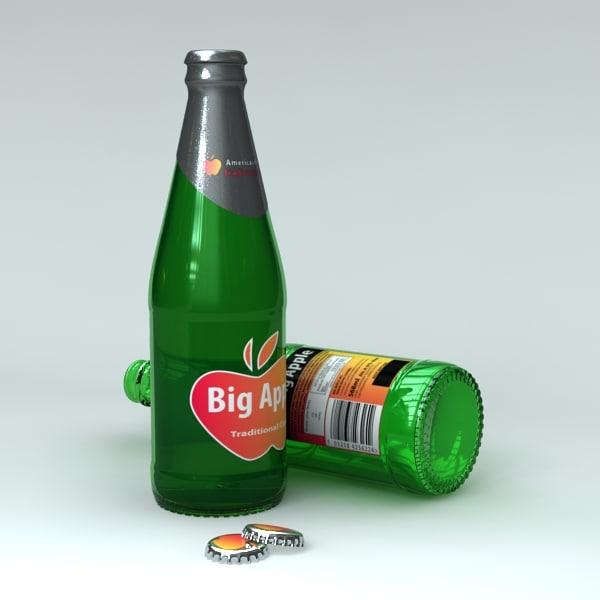 unbranded cider bottle 3d model