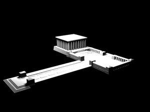 3d model tkabir mausoleum mustafa kemal
