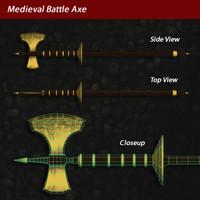 Medieval Battle Axe