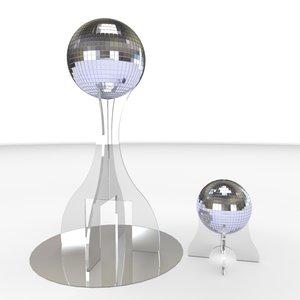 3d mirrored ball centerpiece model