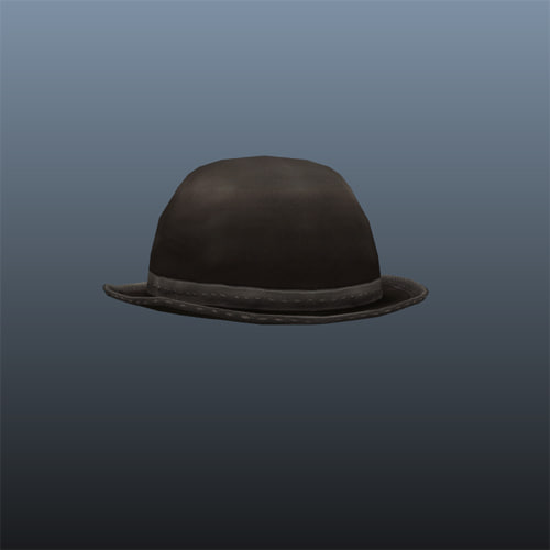 bowler hat 3d model
