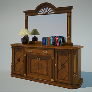 3d model interior commode
