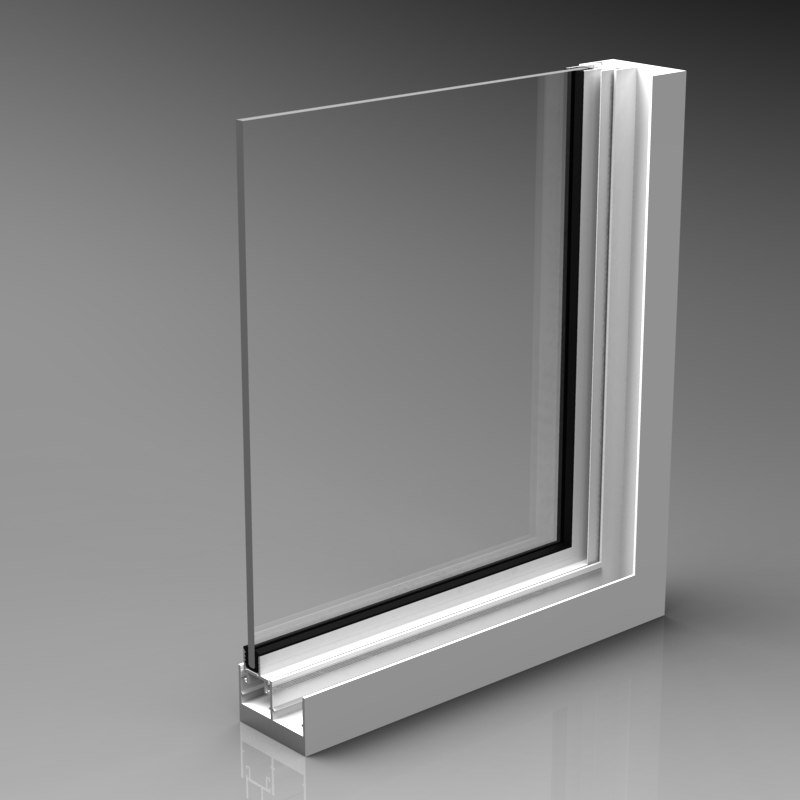 aluminium window corner 3d model