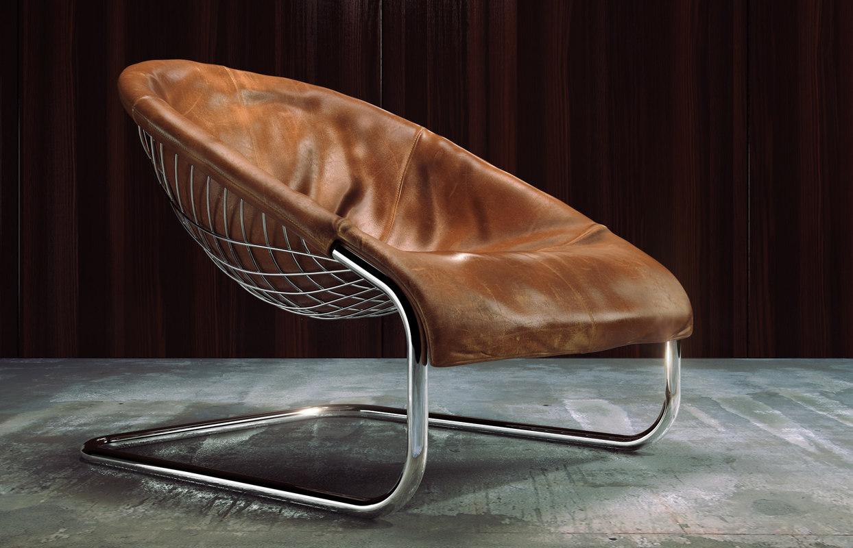 3d model minotti cortina loungechair