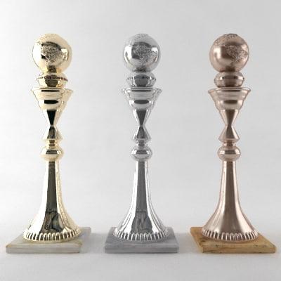trophy prize award 3d model