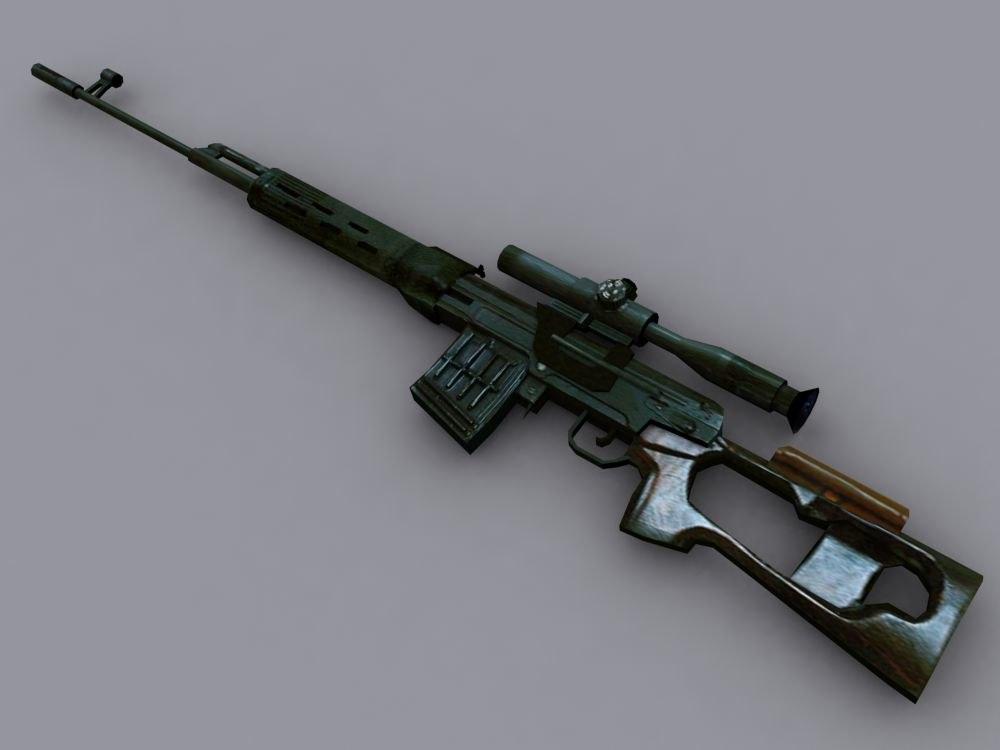 3d dragunov sniper rifle
