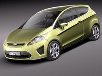 fiesta 3door hatchback city car 3d c4d