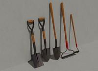 3d garden tools model