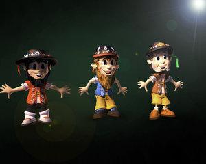 3d trolls fairy characters model