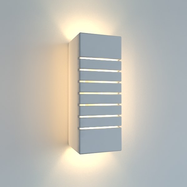 simple sconce ceramic lighting 3d 3ds