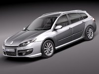 renault laguna 2011 estate 3d model
