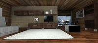3d lwo furniture set living room
