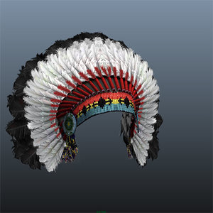 indian hat 3d ma