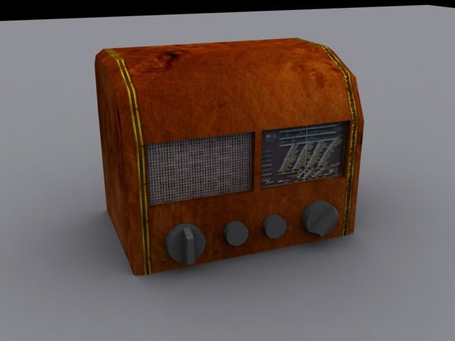 old radio 3d 3ds