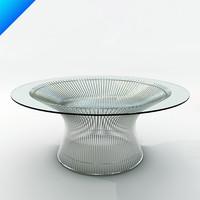 platner coffee table 3d model