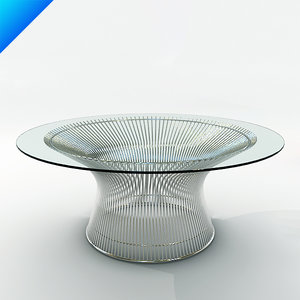 platner coffee table 3d model