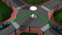 free simple sample illustration traffic 3d model